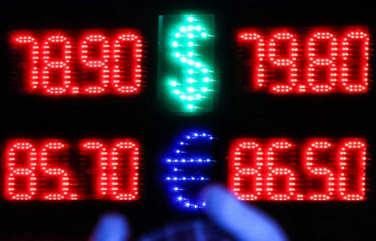Курс доллара превысил отметку 79 руб., евро — 88,2 руб., Brent — ниже $32