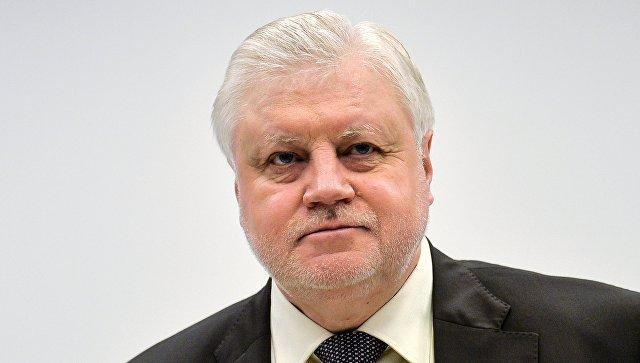 России не нужно ставить вопрос об отмене санкций, считает Миронов