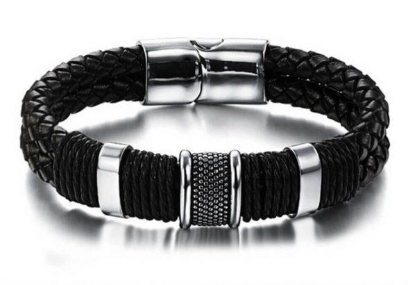 Кожаные браслеты для мужчин.