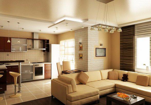 Современные интерьеры гостиных небольшой площади
