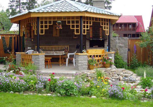 Как построить гриль-павильон на своем участке