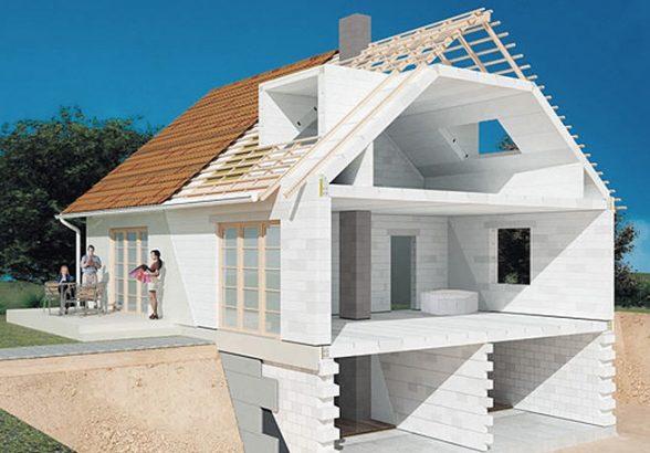 Дома из газобетона — возможность получить удобное жилье в минимальные сроки