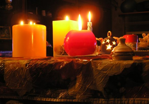 Интерьер со свечами