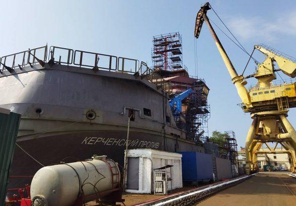 Амурский завод просит сдвинуть сроки сдачи судна «Керченский пролив» на два года